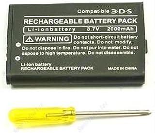 3DS 2000mAh 大容量バッテリー ドライバー付き