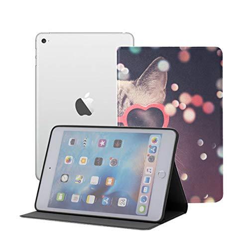 Funda para niños para iPad Mini Gato Divertido con Gafas de Sol iPad Mini Funda magnética iPad Mini 1/2/3 Auto Sleep/Wake con visualización de múltiples ángulos para iPad Mini 3 / Mini 2