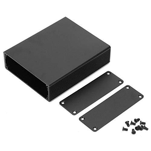 Contenitore Elettronico per Progetti di Custodie per Custodie per Circuiti Stampati in Alluminio Nero 27 X 82 X 100 Mm