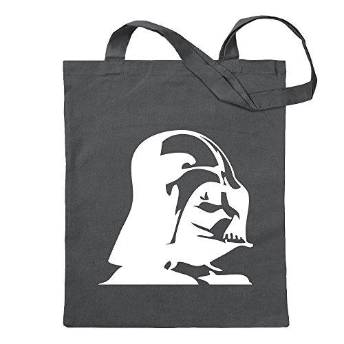 Kiwistar Darth Vader - Bolsa de yute - Proverbios impresos que cuenta modelos Bolsa de Fitness para el Fitness con forma de bolsa de algodón colgada de un mango largo Gris Size: 30cm