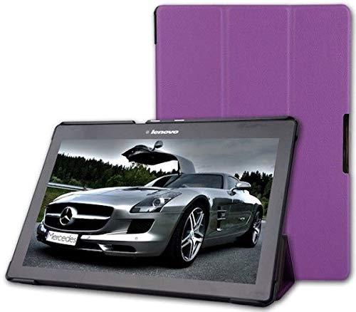 Case2go - Hülle für Lenovo Tab 2 A10-70f Dreifach Falt Schutzhülle Case - Ultra Dünn Leicht Ständer - Violett