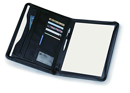 eBuyGB Zipped Business Conference Folder Portfolio met A4 schrijfblok, zwart
