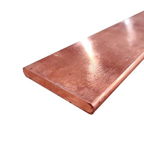 110 Copper Rectangular Bar Unpolished 1//4 Thickness 3//4 Width Mill Finish H04 Temper 72 Length ASTM B187