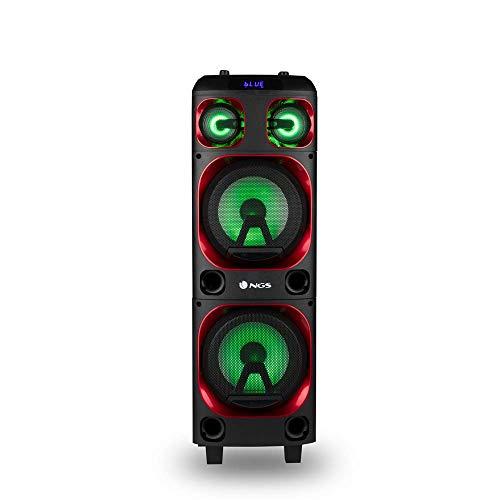 """NGS WILD SKA 1- Tragbarer Lautsprecher mit 300W Kompatibel mit der Bluetooth-Technologie und True Wireless Stereo, Double Subwoofer 8"""" + Double Tweeter 3"""