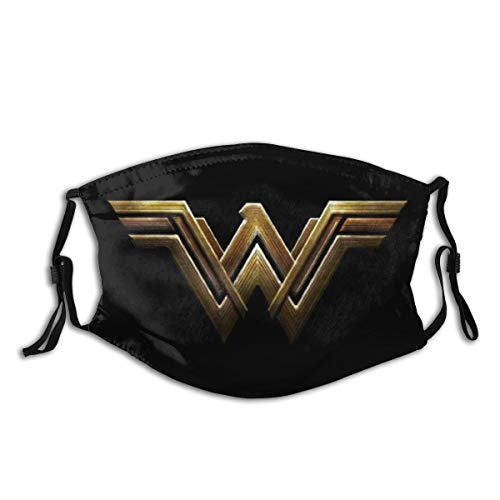 3D Wonder Women Face Outdoor Mask Protective 5-Layer Activated Carbon Filters for Adult Men Women Bandana