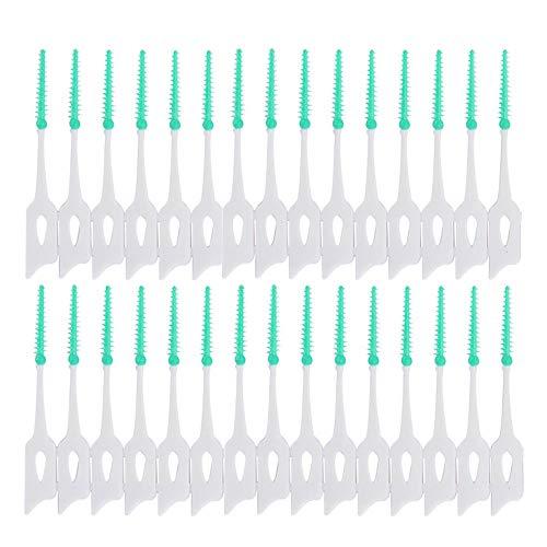 Interdentalbürsten, Silikon, Zahnseide für die tägliche Mundhygiene, gesunde Zähne und Zahnfleisch, 150 Stück