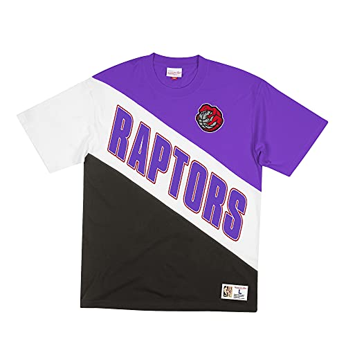Mitchell & Ness NBA Play by Play - Camiseta de manga corta T. Raptors, morado/negro S