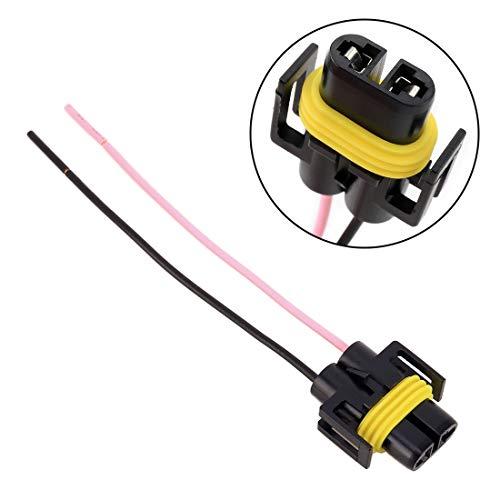 XUJINQI autolampadapter, H11-lamphouder, vrouwelijke kop-adapter, auto-koplamp-werk-licht-modified-plug-omzetting lijn, voor autoverlichting