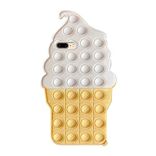 Fidget Toys Phone Case Compatible con IPhone 7 Plus/8 Plus, Bubble Fidget Sensory Toy Stress Relief Silicona Tpu Protector Anti-caída Cover Compatible con IPhone 6s Plus Funda Antigolpes Silicone Case
