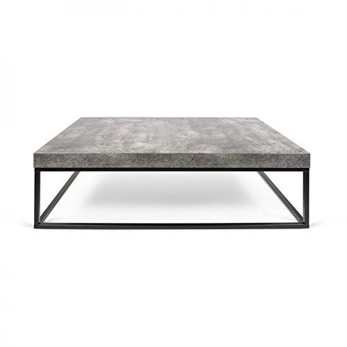 Paris Prix - Temahome - Table Basse 120cm Petra Béton & Métal Noir