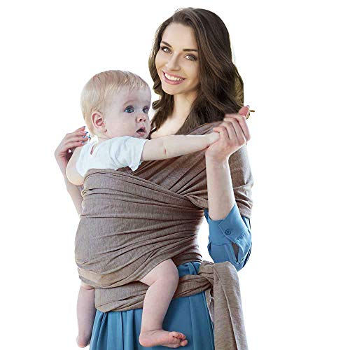 Cherub Baby Sling Wrap, Infant Wrap Carrier from Newborn to 44lbs (Copper Gray)
