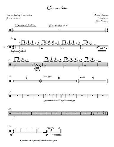Dream Theater - Octavarium: Drum Sheet Music (English Edition)