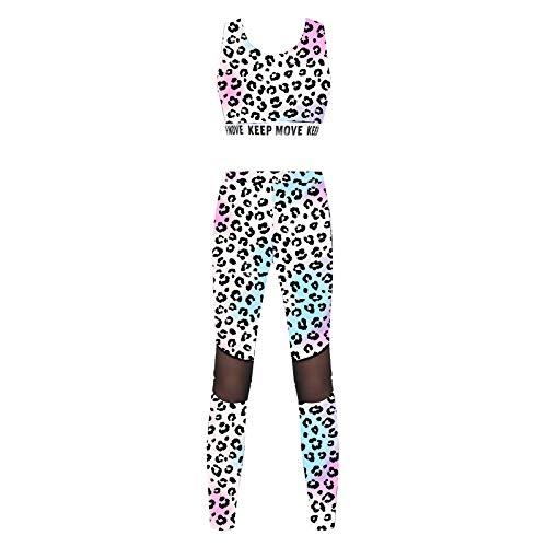 ranrann Conjuntos de Deportes para Niña Pequeña Tank Top Leggins Largos Deportivos Mujer Conjuntos de Yoga Casual Color 22 3-4 años
