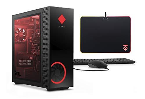 2020 Latest ELUK OMEN Obelisk Gaming Desktop PC (Liquid Cooled Intel Core i9-9900K CPU, NVIDIA RTX 2080 Ti 11GB GPU, Z390 Mobo, 750 Watt Platinum PSU, Windows 10 Pro, 2TB NVMe SSD + 2TB HDD, 64GB RAM)