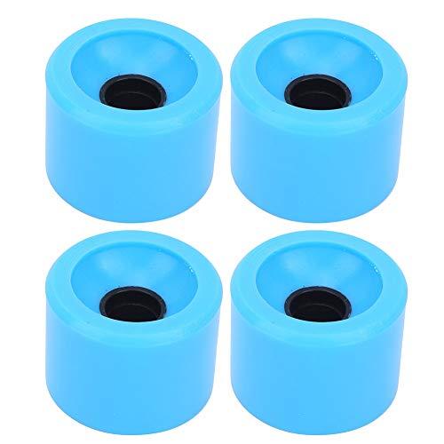 nobrands Wheel-4PCS/Set Accesorio de Rueda de monopatín PU Colorido de Alta Elasticidad para la mayoría de monopatines(Azul)