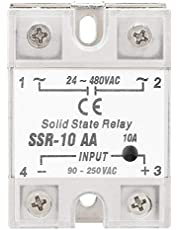 SANON Ssr-10 Aa 10A Módulo de Relé de Estado Sólido Ssr Entrada Ac-Ac Salida 90-250V Ac 24-480V Ac