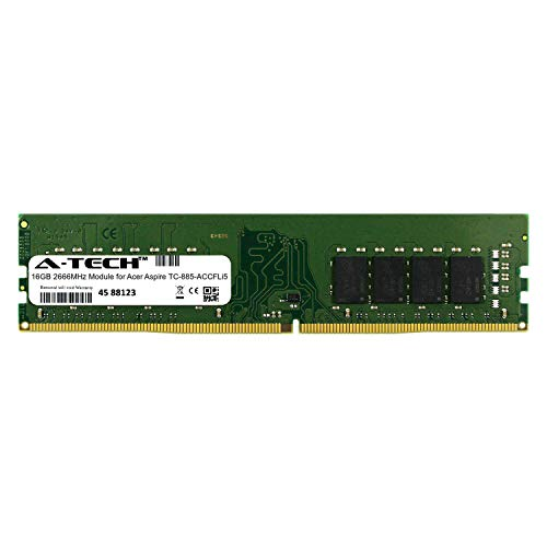 A-Tech 16GB Module for Acer Aspire TC-885-ACCFLi5 Desktop & Workstation Motherboard Compatible DDR4 2666Mhz Memory Ram (ATMS267506A25823X1)