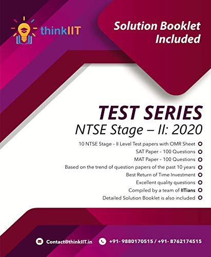 NTSE Stage - 2 Test Series : 10 Test Papers
