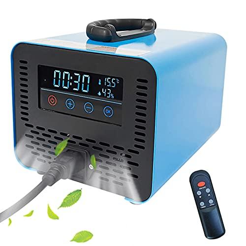 RDJSHOP Generador de Ozono de Pantalla Táctil Ozonizador con Mando a Distancia, Esterilizador Desodorante Ozono Generador para Grandes Salas, Fábricas, Bares,Blue-20000mg/h