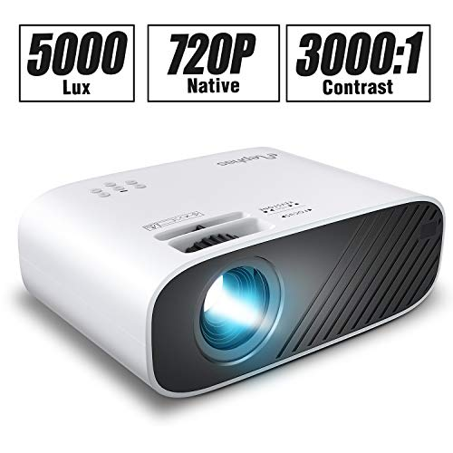 Buy Bargain ELEPHAS 2020 Mini Movie Projector, 5000 LUX Full HD 1080P Video Projector, with 50, 000 ...