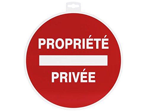 Provence Outillage 07508 Panneau Panneaux de Signalisation Propriété Privée Rouge 30 cm