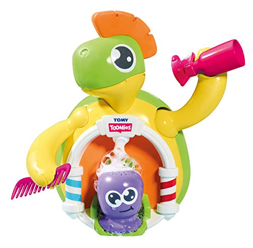 TOMY Toomies Schildkröten Friseursalon – Lustiges Wasserspielzeug für Badewanne und Planschbecken - fördert Feinmotorik und Sinne – Für Kleinkinder ab 18 Monate
