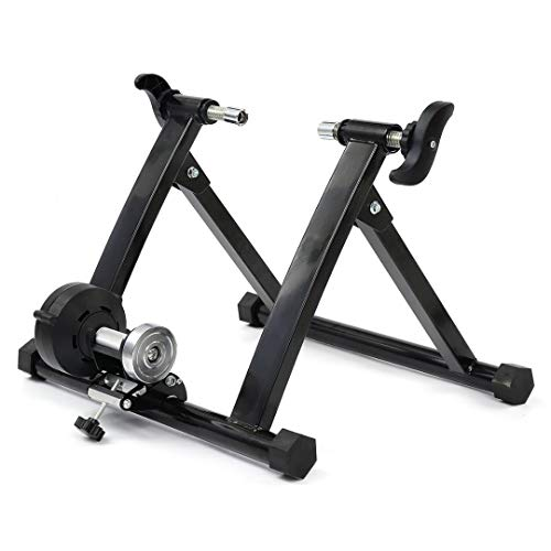 Portable Indoor Bike Trainer Stand, Foldable Bike Trainer Stand with Double Locking System, Bicycle Trainer for Cycling Bicycle Riding Exercise Traine