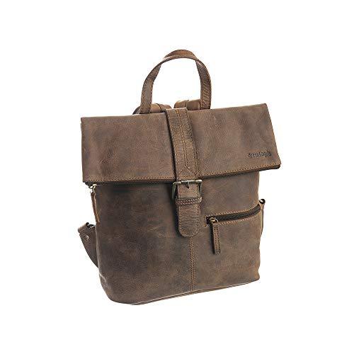 Carte cadeau de la marque greenland-nature westcoast et sac à dos en cuir de buffle marron foncé