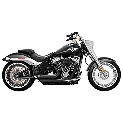 Vance & Hines 47235 Black Shortshots Staggered Exhaust System for 2018-Newer Harley M8 Softail Breakout, Fat Boy, FXDR Models