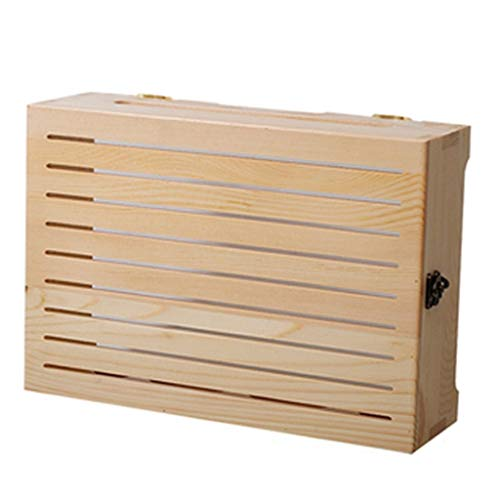 Multifunción WiFi Router Soporte Home Sala de estar TV Set-Top Box Almacenamiento Almacenamiento Alambre Inserte Rack Rack Punch-Free Wall Mount Sin flotante ( Color : NATURAL , Size : 35*10*24.5CM )