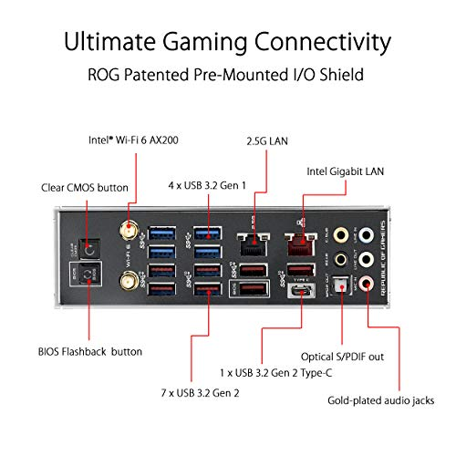 ASUS ROG Crosshair VIII Hero Wi-Fi Scheda Madre Gaming AMD X570 ATX con PCIe 4.0, 16 Fasi di Alimentazione, OptiMem III, Wi-Fi 6 onboard, LAN 2.5 Gbps, USB 3.2, SATA, M.2 e Aura Sync RGB