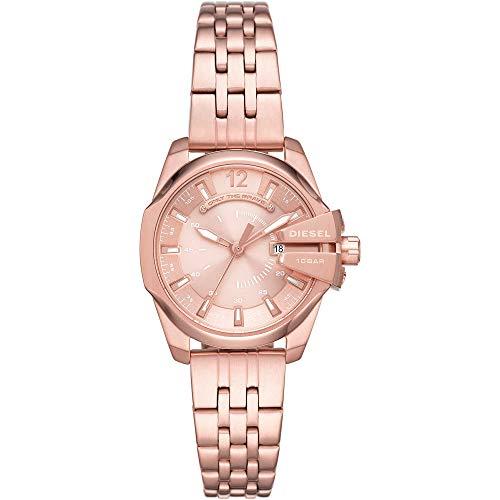 Diesel - Reloj tradicional de cuarzo para mujer de acero inoxidable DZ5602.