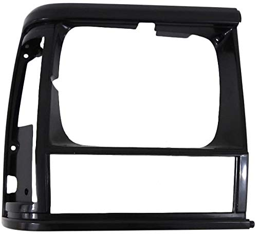 I-Match Auto Parts Right Passenger Side Headlight Door Bezel Replacement for 1991-1996 Jeep Cherokee Midsize and 1991-1992 Jeep Comanche 5DV54TZZ CH2513124