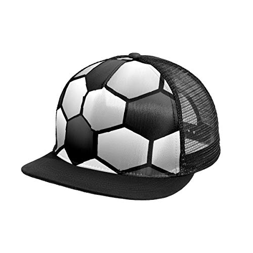 N\O 3D Soccer Texture Background Men's Baseball Cap Outdoor Sports Snapback Hat Adjustable Women Sun Protection Hats For Summer Beach hiking Running