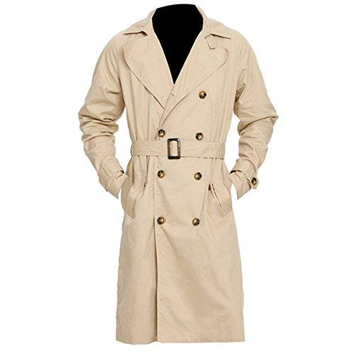 Red Smoke Supernatural Castiel Kostüm Trenchcoat Gr. Large, beige