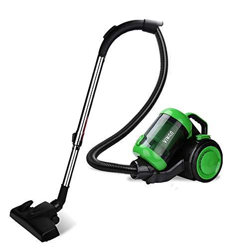 wolketon Staubsauger Beutellos für Hart- und Teppichböden, Bodenstaubsauger Leise, äußerst effizienter HEPA-Filter, Niedriger Stromverbrauch 3.0L Grün