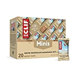 CLIF BARS - Mini Energy Bars - White Chocolate Macadamia Nut Flavor - Made with Organic Oats - Plant Based Food - Vegetarian - Kosher (0.99 Ounce Snack Bars, 20 Count)