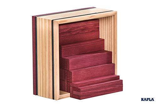 Kapla 9000160 Holzplättchen 40-teilig in Box, violett