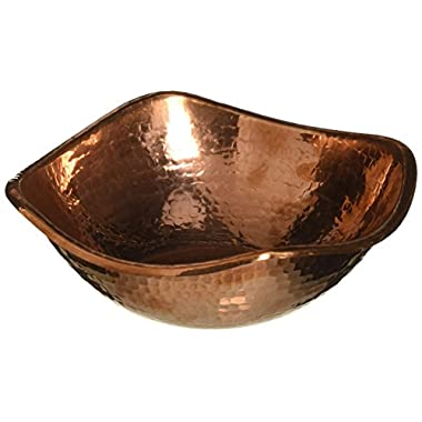 Copper Hammered Mixing Bowl, 100% Pure Heavy Gauge - Multipurpose Use of Antique Copper Serving Bowl For Candy, Salad, Egg Beating - Decorative Copper Bowl For Your Kitchen - 7.5  Size By Alchemade