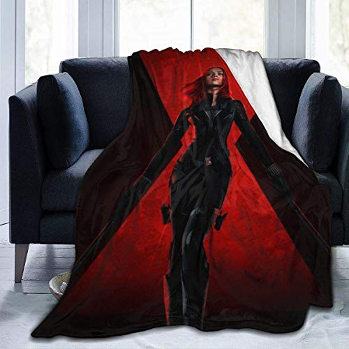 Black Blanket Widow Flannel Fleece Blanket Cozy Warm Super Soft Fluffy Luxury Blanket-Lightweight All Season for Bed/Couch/Sofa/Office/Camping 80' X60'