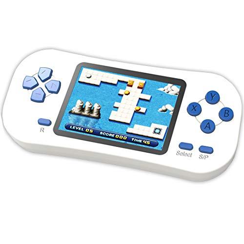 ZHISHAN Console di Gioco Portatile retrò per Bambini Precaricata con 218 Videogiochi Classici Sistema Arcade Ricaricabile con Display 2,5 Pollici e 3,5 mm per Cuffie Controller di Gioco (Bianco)