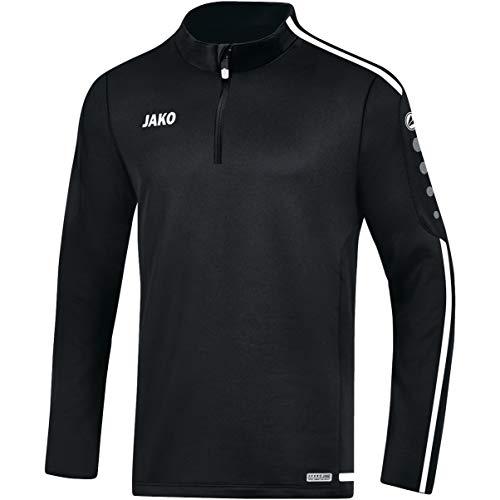 JAKO Herren Striker 2.0 Trainingsziptop, schwarz/Weiß, M