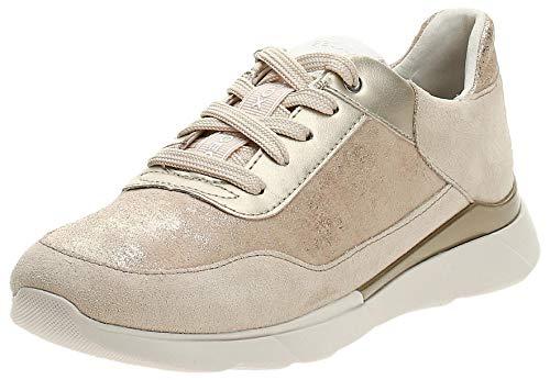 Geox Damen D Hiver A Sneaker, Beige (Sand C5004), 41 EU