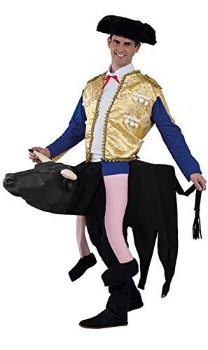 FIESTA Y CARNAVAL, SL Disfraz de Torero sobre Toro Adulto