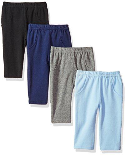Luvable Friends Unisex Baby Cotton Pants, Boy Solid, 3-6 Months