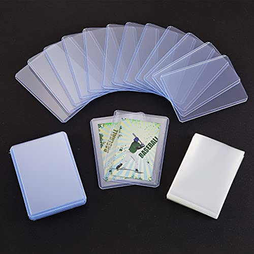 Tenare 50 normale Sammelkartenhalter mit 100 durchsichtigen Hüllen, harte transparente Kartenhüllen mit schwarzem Samtbeutel zum Organisieren und Schützen von Sammelkarten, Basebal
