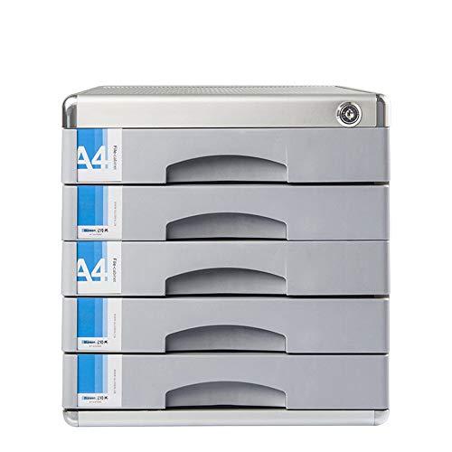 MxZas Locking ladekast, bureau-organisator, verwerking en organiseren van papieren documenten gereedschap, voor kantoor