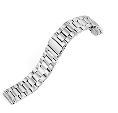 @ccessory Armband kompatibel mit Fossil Gen 4 Q Explorist HR 3, 22 mm Edelstahl Schnellverschluss Metall Uhr für Fossil Gen 5 Carlyle Smartwatch (Silber)