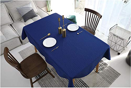 Rectangular Solid Color Tablecloth, Retro Jacquard Royal Blue Tablecloth, Home Dining Tablecloth,Festive Party Decorated Tablecovers,Household Hotel Table Cover-140X140cm