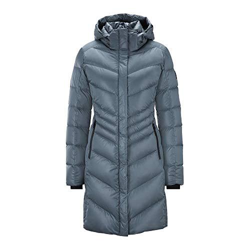 Bogner Fire + Ice Ladies Kiara2-D Grau, Damen Daunen Wintermantel, Größe 36 - Farbe Wolf